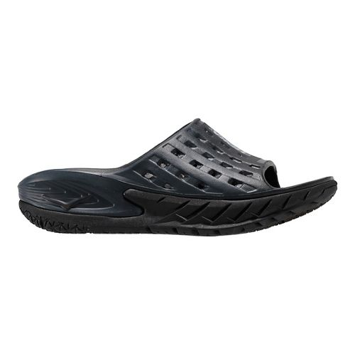 Womens Hoka One One Ora Recovery Slide Sandals Shoe - Black/Grey 5