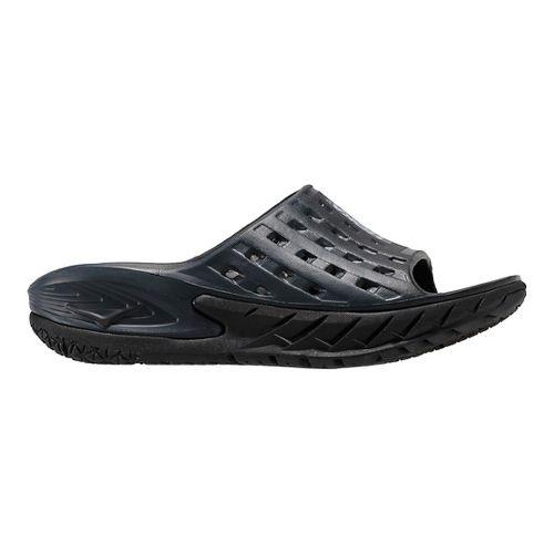 Womens Hoka One One Ora Recovery Slide Sandals Shoe - Black/Grey 9