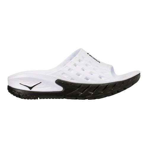 Womens Hoka One One Ora Recovery Slide Sandals Shoe - Black/White 7