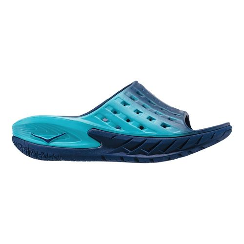 Womens Hoka One One Ora Recovery Slide Sandals Shoe - Medieval Blue 9