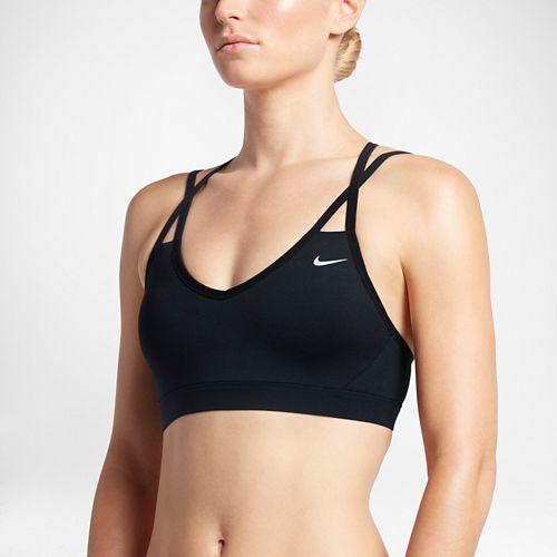 Womens Nike Pro Indy Strappy Sports Bra - Black L