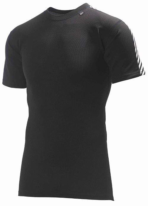 Mens Helly Hansen HH Dry Stripe T Short Sleeve Technical Tops - Black XXL