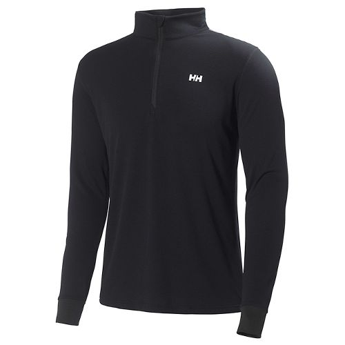Mens Helly Hansen HH Active Flow 1/2 Zip Long Sleeve Technical Tops - Black L ...