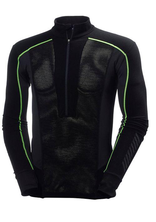Mens Helly Hansen HH Warm Flow Ullr Top Long Sleeve Technical Tops - Black XXL