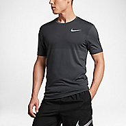 Mens Nike Zonal Cooling Relay Short Sleeve Technical Tops - Anthracite M