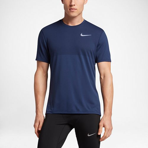 Mens Nike Zonal Cooling Relay Short Sleeve Technical Tops - Paramount Blue L