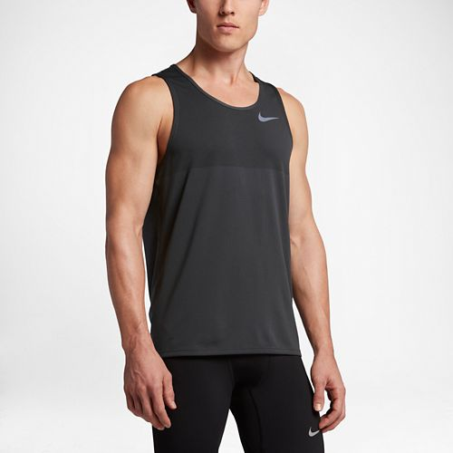 Mens Nike Zonal Cooling Relay Sleeveless & Tank Technical Tops - Anthracite L
