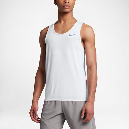 Mens Nike Zonal Cooling Relay Sleeveless & Tank Technical Tops - White M