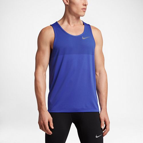 Mens Nike Zonal Cooling Relay Sleeveless & Tank Technical Tops - Paramount Blue M