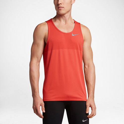 Mens Nike Zonal Cooling Relay Sleeveless & Tank Technical Tops - Max Orange L