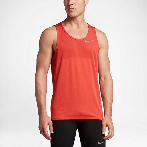 Mens Nike Zonal Cooling Relay Sleeveless & Tank Technical Tops - Max Orange M