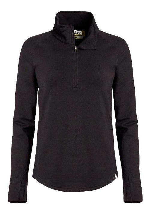 Womens Tasc Performance Northstar II Fleece 1/2-Zip Long Sleeve Technical Tops - Black L