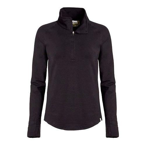 Womens Tasc Performance Northstar II Fleece 1/2-Zip Long Sleeve Technical Tops - Black M