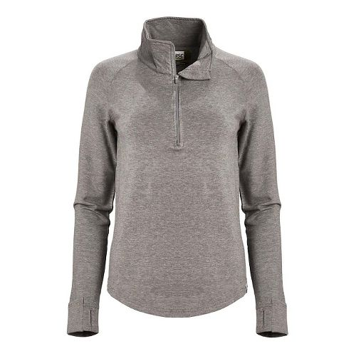 Womens Tasc Performance Northstar II Fleece 1/2-Zip Long Sleeve Technical Tops - Heather Grey L