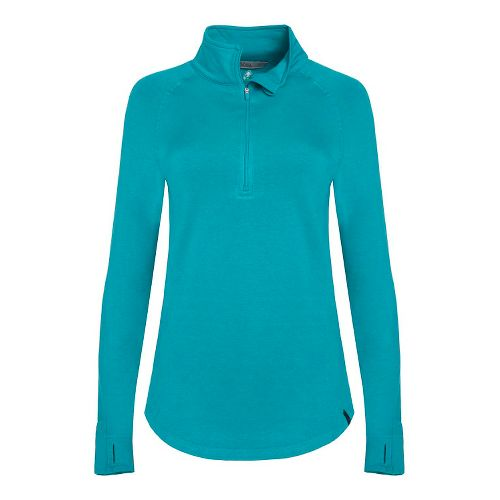 Womens Tasc Performance Northstar II Fleece 1/2-Zip Long Sleeve Technical Tops - Marlin XL