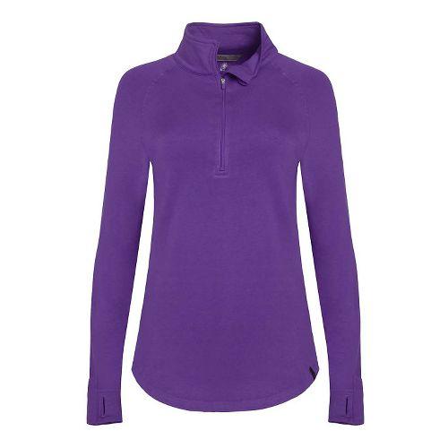 Womens Tasc Performance Northstar II Fleece 1/2-Zip Long Sleeve Technical Tops - Plumberry L