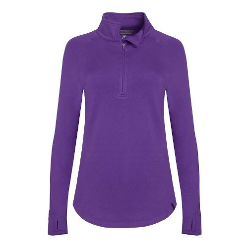 Womens Tasc Performance Northstar II Fleece 1/2-Zip Long Sleeve Technical Tops - Plumberry M