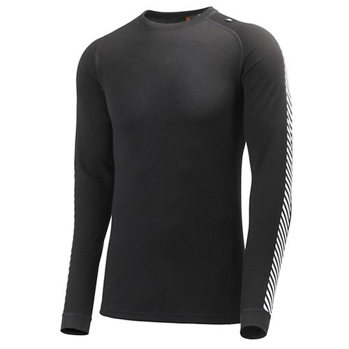 Mens Helly Hansen HH Warm Ice Crew Long Sleeve Technical Tops - Black M