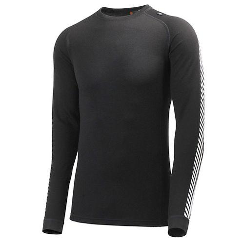 Mens Helly Hansen HH Warm Ice Crew Long Sleeve Technical Tops - Black XS