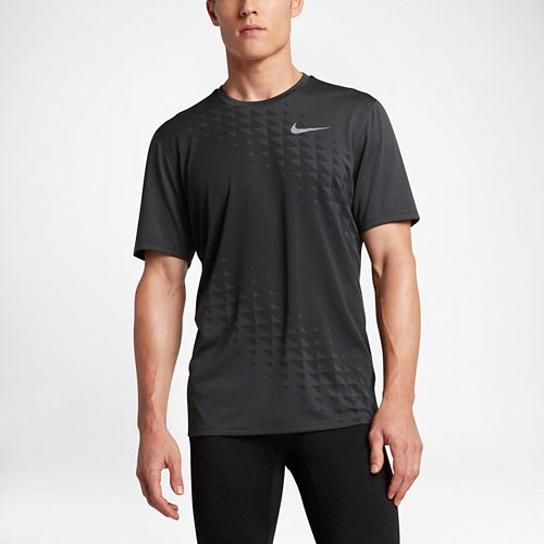 Mens Nike Zonal Cooling Relay GX Short Sleeve Technical Tops - Anthracite XL