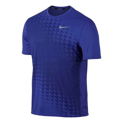 Mens Nike Zonal Cooling Relay GX Short Sleeve Technical Tops - Paramount Blue M