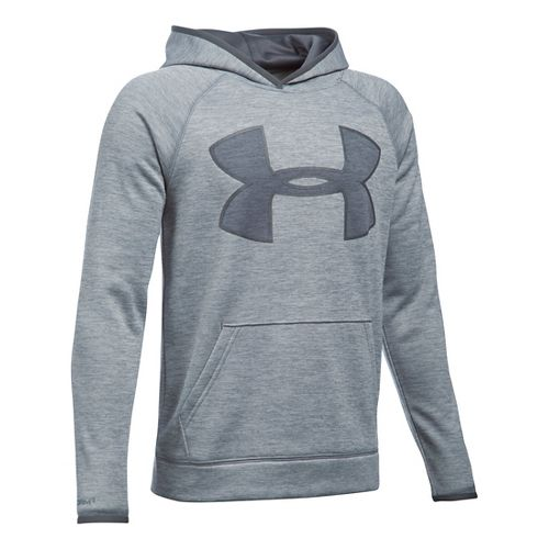 Under Armour Boys Armour Fleece Twist Highlight Half-Zips & Hoodies Technical Tops - ...