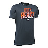 Under Armour Boys All Beast All Day T Short Sleeve Technical Tops