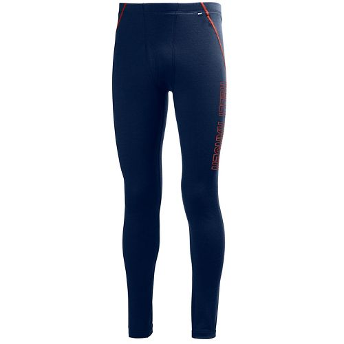 Mens Helly Hansen HH Warm Tights & Leggings Pants - Evening Blue XXL