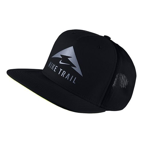 Nike AeroBill Trail Cap Headwear - Black/Volt