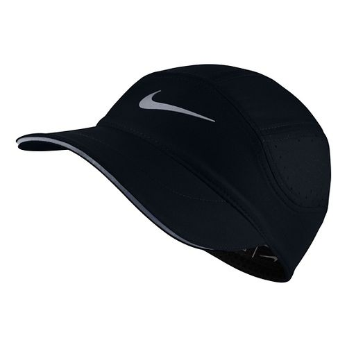 Womens Nike AeroBill Elite Running Cap Headwear - Black/Black
