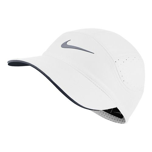 Womens Nike AeroBill Elite Running Cap Headwear - White