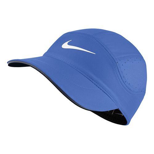 Womens Nike AeroBill Elite Running Cap Headwear - Comet Blue/Black