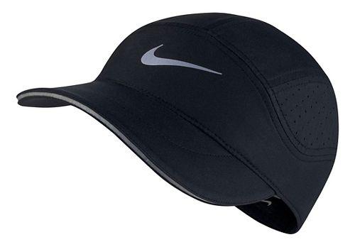 Mens Nike AeroBill Elite Running Cap Headwear - Black