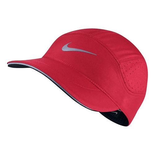Mens Nike AeroBill Elite Running Cap Headwear - University Red