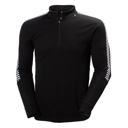 Mens Helly Hansen HH Dry Stripe 2 1/2 Zip Long Sleeve Technical Tops - Black ...