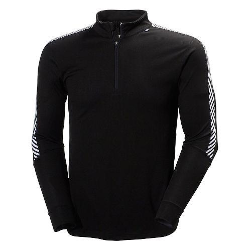 Mens Helly Hansen HH Dry Stripe 2 1/2 Zip Long Sleeve Technical Tops - Black ...