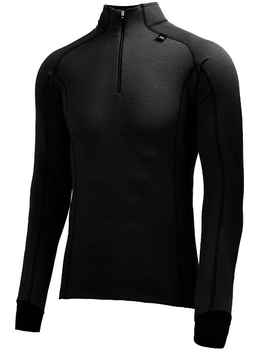 Mens Helly Hansen HH Warm Freeze 1/2 Zip Long Sleeve Technical Tops - Black L