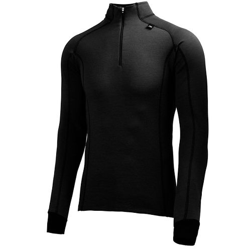 Mens Helly Hansen HH Warm Freeze 1/2 Zip Long Sleeve Technical Tops - Black L ...