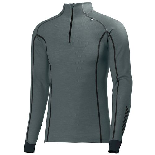 Mens Helly Hansen HH Warm Freeze 1/2 Zip Long Sleeve Technical Tops - Rock L ...