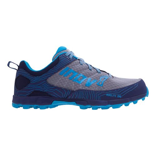 Womens Inov-8 Roclite 295 Trail Running Shoe - Grey/Blue 10.5