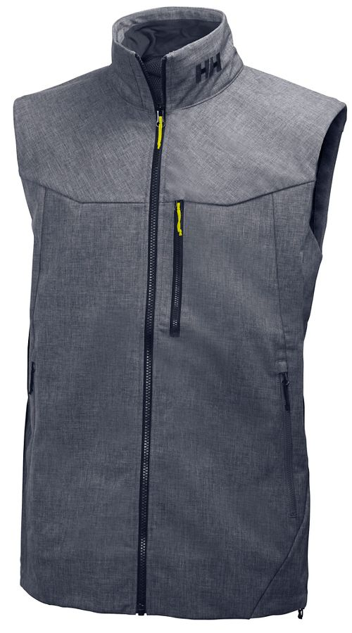Mens Helly Hansen Paramount Vests Jackets - Grey Melange L