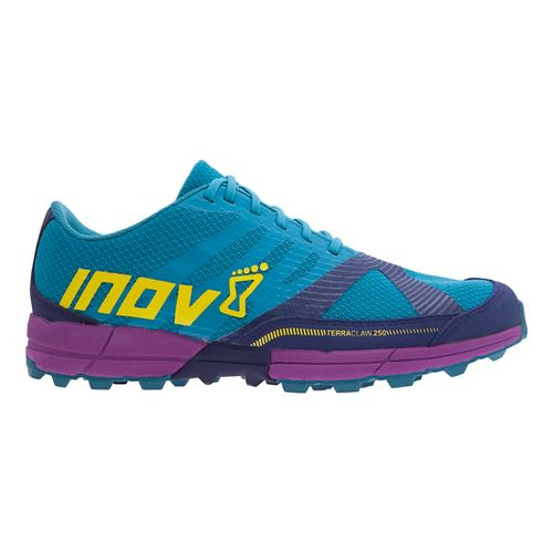 Womens Inov-8 Terra Claw 250 Trail Running Shoe - Teal/Navy/Purple 6.5
