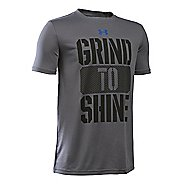 Under Armour Boys Grind To Shine T Short Sleeve Technical Tops