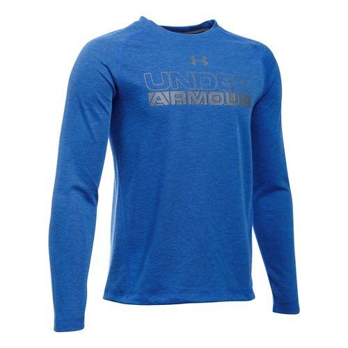 Under Armour Boys Infrared Long Sleeve Technical Tops - Ultra Blue YXL