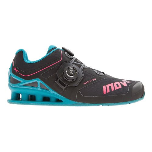 Womens Inov-8 FastLift 370 BOA Cross Training Shoe - Black/Teal/Berry 8