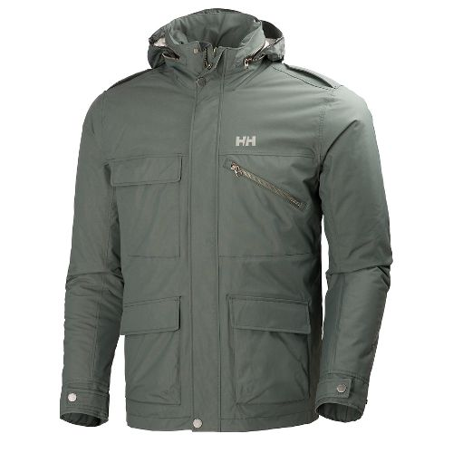 Mens Helly Hansen Universal Moto Insulated Rain Cold Weather Jackets - Rock L