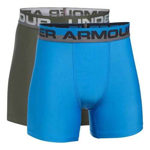 Under Armour Boys O-Series 2-Pack Boxer Brief Underwear Bottoms - Downtown Green YXS