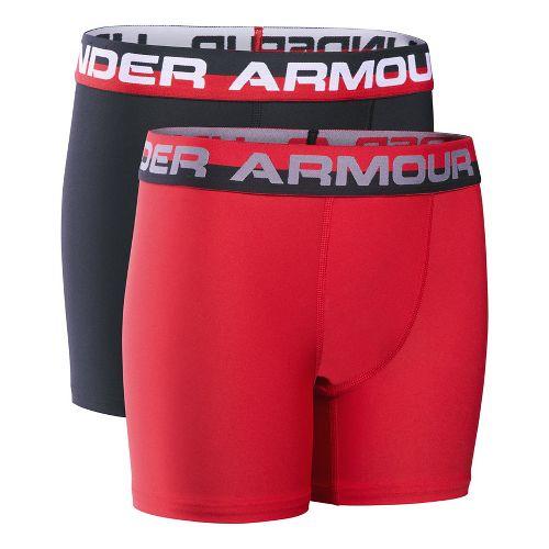 Under Armour Boys O-Series 2-Pack Boxer Brief Underwear Bottoms - Red YM