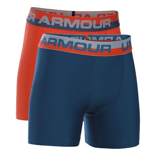 Under Armour Boys O-Series 2-Pack Boxer Brief Underwear Bottoms - Dark Orange YXL