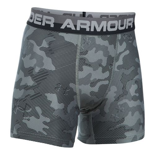 Under Armour Boys O-Series Novelty 2-Pack Boxer Brief Underwear Bottoms - Graphite YXS